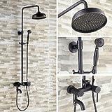 Gowe Öl eingerieben Bronze 20,3cm Regen Dusche Wasserhahn Set Badewanne Wasserhahn Dusche Spalte Drehstuhl