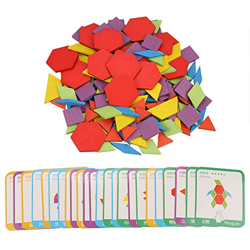 Zerodis- 155pcs Rompecabezas de Madera, Conjunto de Rompecabezas de Aprendizaje Educativo temprano de Inteligencia de Colores para niños con 24pcs para 2-10 años Niños