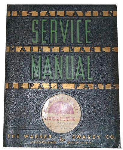 Warner & Swasey No. 5 Service Instructions & Parts
