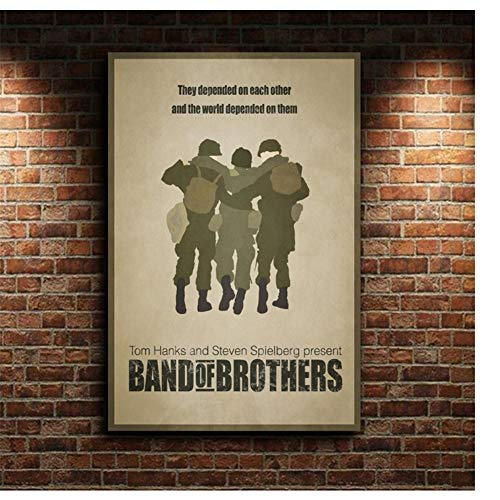 Band of Brothers tv-serie film canvas poster Wall Art Print Kids Decor Home Decor-60x90cm geen Frame