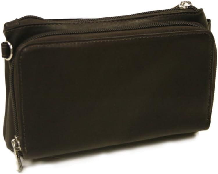 Piel Leather Shoulder Bag Size Wristlet One Chocolate 再入荷 ストアー 予約販売