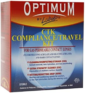 Optimum by Lobob CTK Compliance / Travel Kit for Gas Permeable Contact Lenses 3 oz (50 g)
