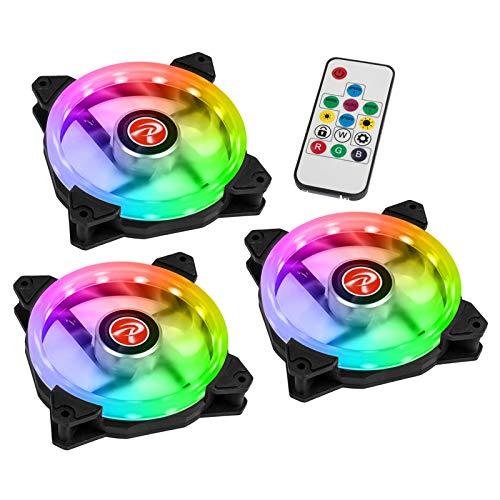 Ventilateurs de boitier Raijintek Iris 12 Rainbow A RGB 12 cm (Noir) 3 Stück