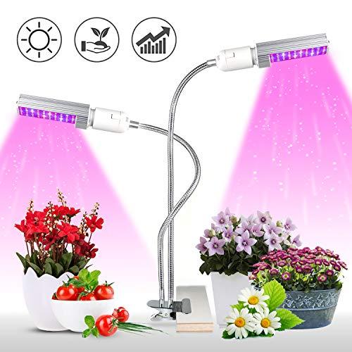 KINGBO Lampada LED Grow, 50W Lampada per Piante Full Spectrum, 100 LEDs Lampada Coltivazione Indoor Crescita Luci Piante per Semina, Crescita, Fioritura e Fruttificazione(Luce di Crescita Rossa/Blu)