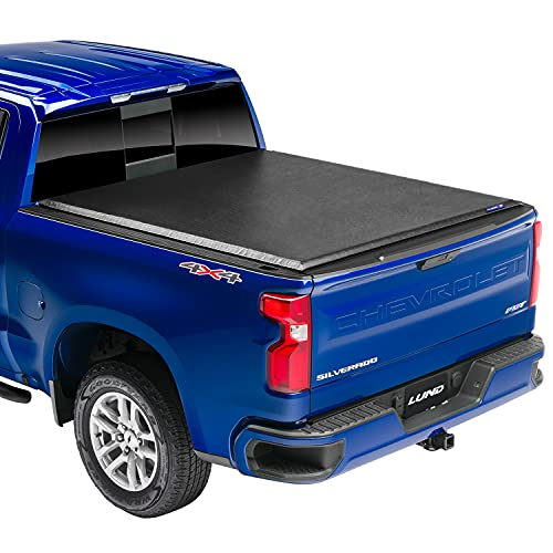 "Lund Genesis Roll Up, Soft Roll Up Truck Bed Tonneau Cover | 96054 | Fits 2020 - 2021 GMC Sierra & Chevrolet Silverado 2500HD & 3500HD 6' 10"" Bed (82.2"")"
