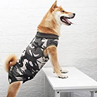 Ezoon Combinaison de rétablissement professionnelle pour chien - Vêtement médical élastique doux - Gilet de protection post-opératoire pour chien, chat, chiot - Vert - XXXL