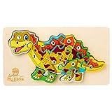 Rompecabezas tridimensionales de dinosaurios, rompecabezas de animales, juguetes educativos para niños, regalos para niños, educación educativa, rompecabezas educativos de ocio (Estegosaurio)