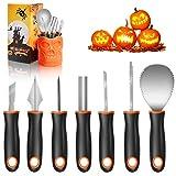 Henscoqi Pumpkin Carving Kit 7 Packs Carving Tools Set, Pumpkin Carving Set Jack-O-Lantern Sculpting...