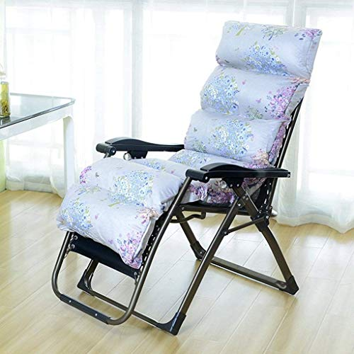 Folding Chair Lounge Chair Portable Beanbag Office Lunch Break Sleeper Bed Resting Women Household Use Permanent Chair Floral Pattern Zero Gravity Chairs A