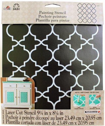 FolkArt Moroccan Tile Handmade Charlotte Laser Stencils, 4377, 10' x 8-1/2