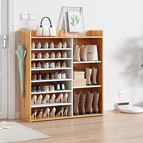 XIALIUXIA Zapatero Madera Organizador De Zapatos, Estantería para Zapatos, Organizador Múltifuncional, Ideal para Entrada Baño Sala De Estar Pasillo,B