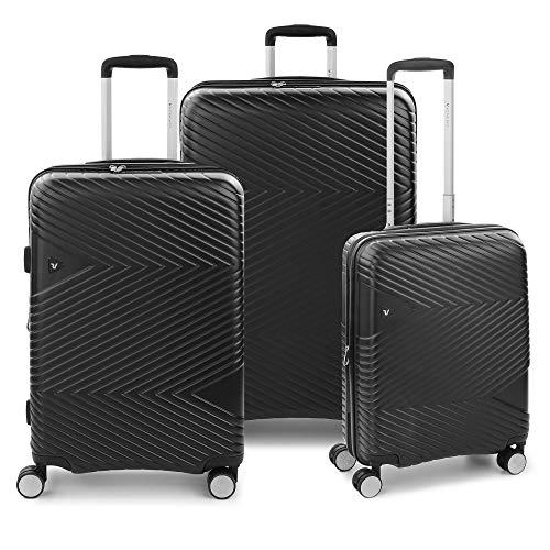 RONCATO Arrow Set 3 maletas rígidas ampliables (ancho + medio + cabina) 4 ruedas Tsa Negro