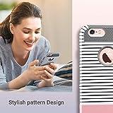 iPhone 6s hülle, ULAK iPhone 6 hülle Dual Layer Case Cover Hybrid Schild TPU + PC Hard Case Cover für iPhone 6s / 6 4,7 Zoll (Roségold Streifen + Grau) - 3