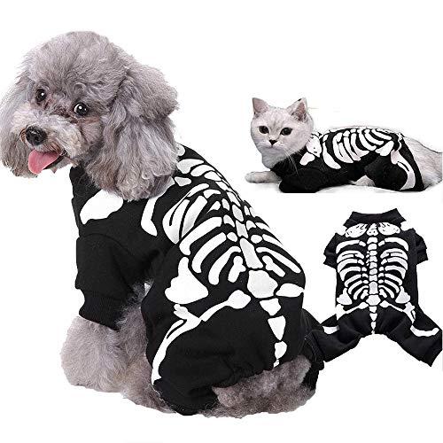 UNIIKE Disfraces De Halloween Mascotas Perros Gatos Mascotas Disfraz para Perros Pequeos Medianos Fiesta De Halloween Camisa para Mascotas Sudaderas con Capucha Vestir Ropa Divertida para Mascotas,L