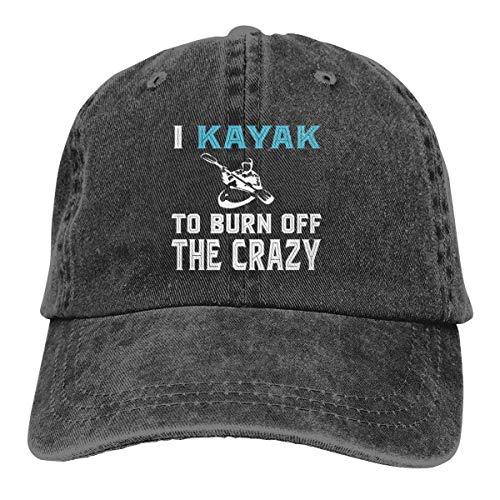 KKAIYA I Kayak to Burn Off The Crazy Classic Vintage Washed Denim Caps Baseball Hat