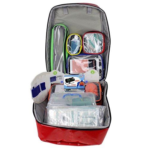 Pulox Erste Hilfe Rucksack, Notfallrucksack (Set PO-300 - Rot)