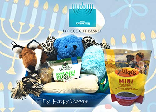 Sparky Pet Co Oodles of Toys & Treats for Pups Hanukkah Gift Basket