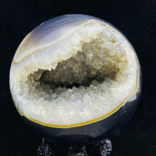 JIAQUAN-SHOP Bola de Cristal Hermosa ágata Natural Cave Crystal Ball Reiki Healing Hogar Dominio Regalo Balón de Cristal Transparente (Size : 1200-1300g)