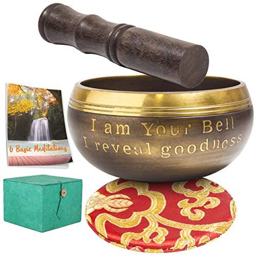 """Cuenco tibetano regalo meditación Navidad , 4"""" dia. 7 minerales."""