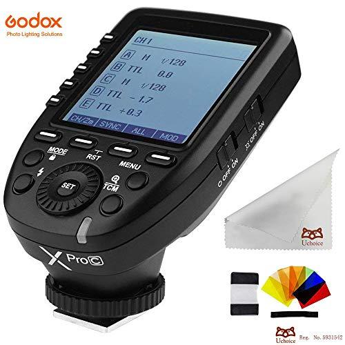 Godox Xpro-C E-TTL 2.4G II - Disparador de Flash inalámbrico para cámaras Canon EOS (Alta Velocidad, 1/8000s, Sistema E-TTL, Alta Velocidad)
