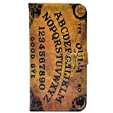 iPhone 7 Plus Case - Unique Ouija Board Spooky Pattern Slim Wallet Card Flip Stand PU Leather Pouch Case Cover for Apple iPhone 7 Plus,iPhone 8 Plus (2017) Cool as Great Gift