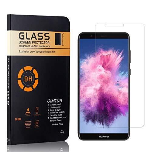 GIMTON Displayschutzfolie für Huawei Enjoy 7S, 9H Härte, Blasenfrei, Anti Öl, Ultra Dünn Kratzfest Schutzfolie aus Gehärtetem Glas für Huawei Enjoy 7S, 4 Stück