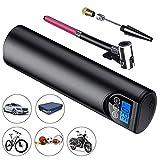 HUKOER Bomba de Aire Inteligente, Mini inflador portátil, Pantalla Digital de Carga USB con compresor de Aire, inflador de neumáticos Digital inalámbrico montado en el vehículo