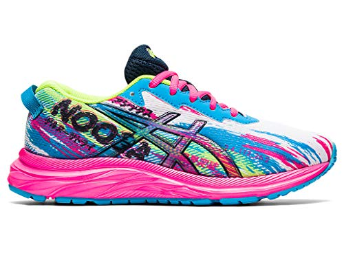 ASICS Kid's Gel-Noosa Tri 13 GS Running Shoes, 5, Digital Aqua/HOT Pink