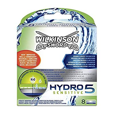 Wilkinson Sword Hydro 5 Sensitive Men's Razor Blades Refills x 8 from Wilkinson Sword