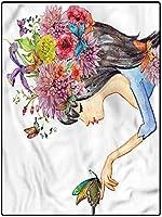 カーペット リビング 抽象 家庭用 洗えるラグ 约 180*280cm フローラルスーパーソフトインドアモダンシャグエリアシルキースムースラグカーペットと床用バキューム春の花の葉 キッチンに適用 防音対策マット 上質 やわらかなめらか感触 ポリエステル