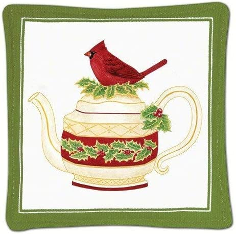 Detroit Mall Alice's Cottage Cardinal Teapot Over item handling ☆ Single Mug Mat