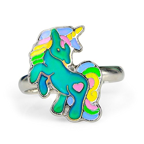 Fun Jewels Cute Fairy Tale Unicorn Color Change Mood Ring For Girls Size Adjustable