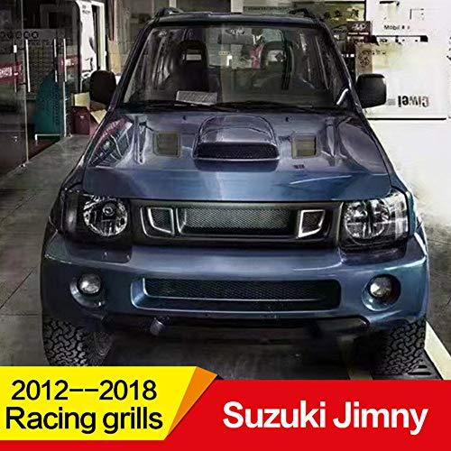 Auto Front Wabengitter Kühlergrille, für Suzuki Jimny Racing Grills 2012-2018, Stoßstangengrill Luftansauggitter Modifiziertes Zubehör Grille, ABS