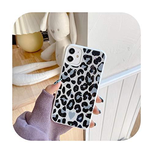 Phonecase Leopard Print - Carcasa para iPhone 12 11 Pro Max X XR XS Max 7 8 Plus se 2020 (poliuretano termoplástico), color verde