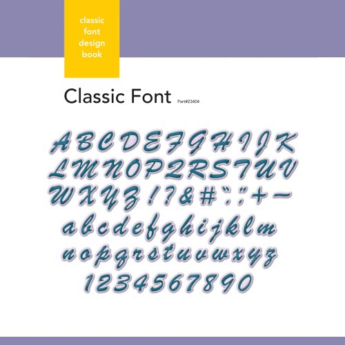 Xyron Classic Font Design Book for Xyron Personal Cutting System
