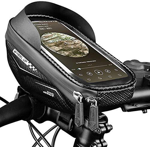 """Motorrad Handyhalterung Fahrrad Wasserdicht Handytasche Fahrrad mit Touch-Screen und Regenschutz Halterung Handy Motorrad bis zu 6,5"""" Zoll"""