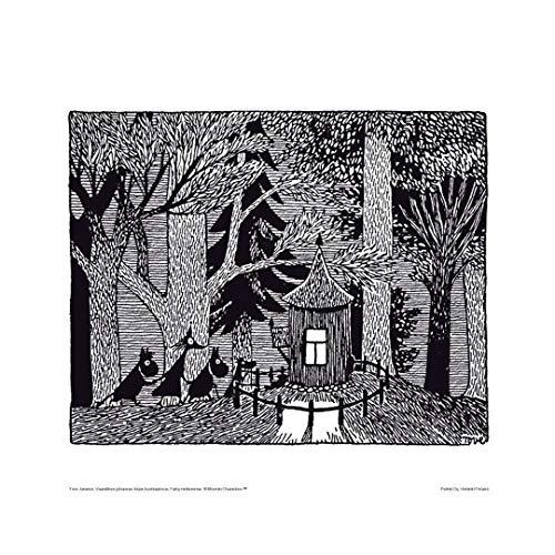 Mumin Poster, Original Mumins Artwork Wandbilder, Premium Papier, Bilder als stilvolle Wanddeko und kinderzimmer (Dunkler Wald)