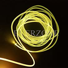 3mm Solid Core Side Glow Fiber Optic Light Cable for Indoor Application 5m/lot