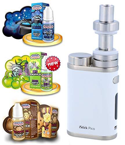 E-Zigarette SC produced by Eleaf Pico Weiss iStick 75W Starterset | TC (Temperaturregelung) | mit American Stars Liquid - 00mg Nikotinfrei