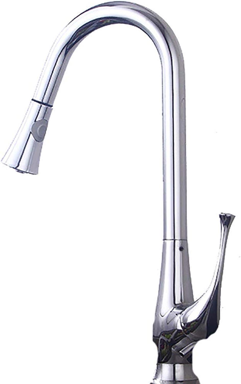 Hjbds Becken Wasserhahn kreative Mode Teleskop-Wasserhahn, Kupfer-Material, Bad Küche rotierenden Sprinkler kalt warm Wasserhahn, Einhand-Einlochmontage