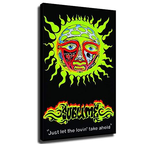 Póster de Sublime Sun con texto en inglés
