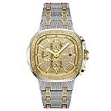 JBW Men's Luxury Heist J6380 20 Diamond Wrist Watch with Stainless Steel Bracelet, 47.5mm