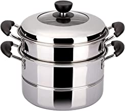 Thickened steam pot rice lobster scallops pot diameter 26cm stainless steel Suitable for all kinds of oven cookware (size:...