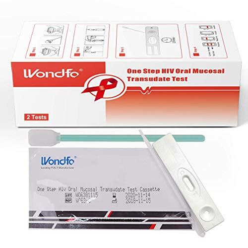 Kits de prueba de saliva de VIH Wondfo Prueba de transudado de mucosa oral de VIH de un paso Prueba rápida de detección temprana de SIDA (2T / B)