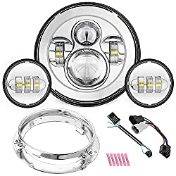 top rated Harley-Davidson Road King, Road Glide, Street Glide, Electra Motorcycle 7inch LED Headlights … 2021