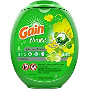 Gain flings! Laundry Detergent Liquid Pacs, Original, 81 Count - Packaging May Vary