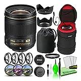 Nikon AF-S NIKKOR 28mm f/1.8G Wide-Angle Prime Lens (2203) USA Model Bundle Package with Padded Lens Case + Macro Filter Kit + UV, CPL, FL Lens Filters + Tulip Hood + Lens Cap Keeper + Cleaning Kit