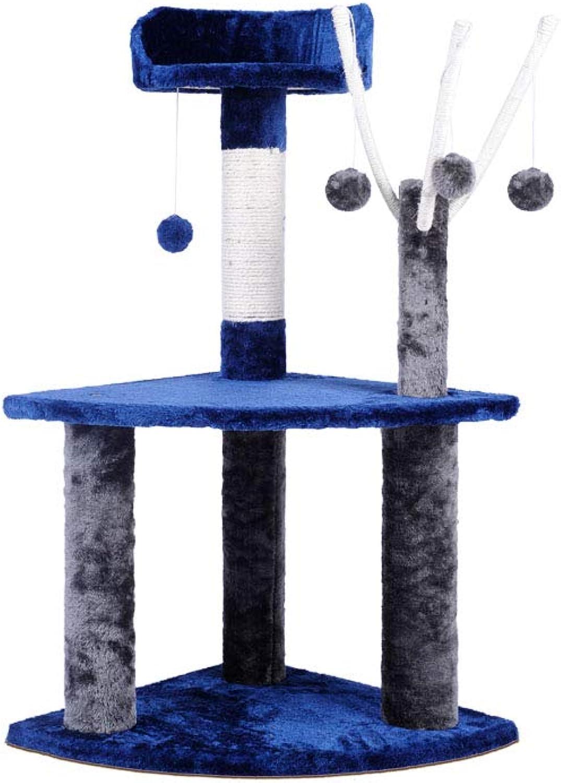 i.Pet 95cm Cat Scrat ng Post Blue e Grigio