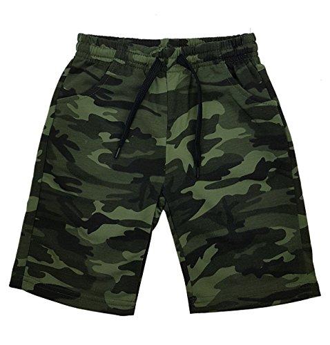 Fashion Boy Jungen Army Bermuda Tarn Shorts in Grün Camouflage, Gr. 128/134, Jn6120.10