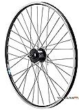 Vuelta 28 Zoll Fahrrad Laufrad Vorderrad Hohlkammerfelge Shimano Nabendynamo DHC30003 mit Schnellspanner schwarz für V-Brakes/Felgenbremse